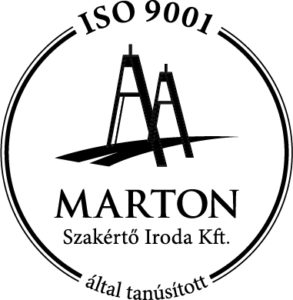 ISO 9001 MARTON tanúsítvány